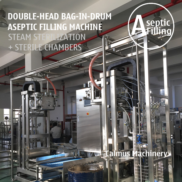 Buy Double-head 220L Bag in Drum Fruit Puree Paste Aseptic Filling Machine