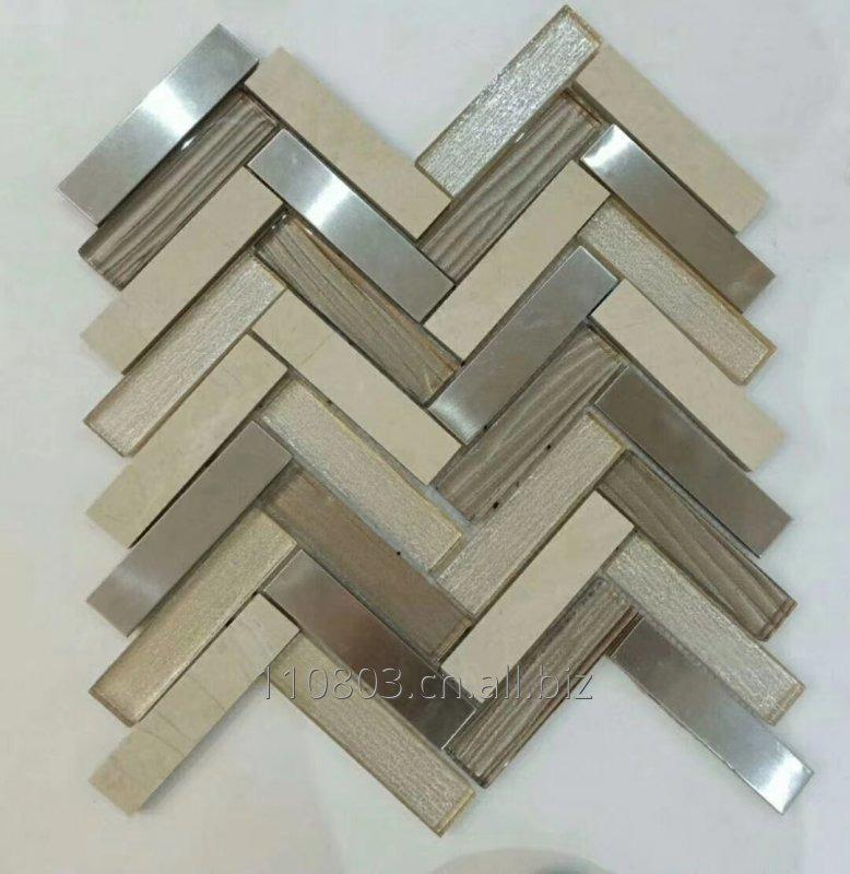 Buy Marble mix glass mosaic