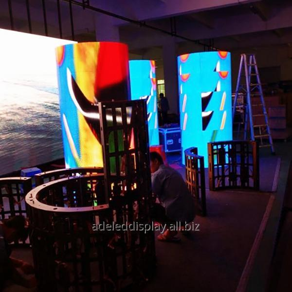 Buy CE ROHS trade show cylinder indoor Flexible LED Display