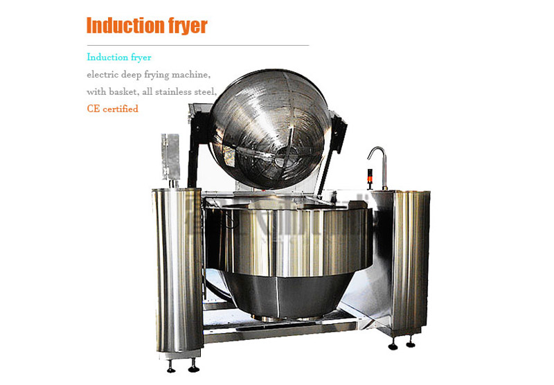 Buy Induction Fryer, Electric Deep Frying Machine, with Basket, All Stainless Steel, CE Certified
