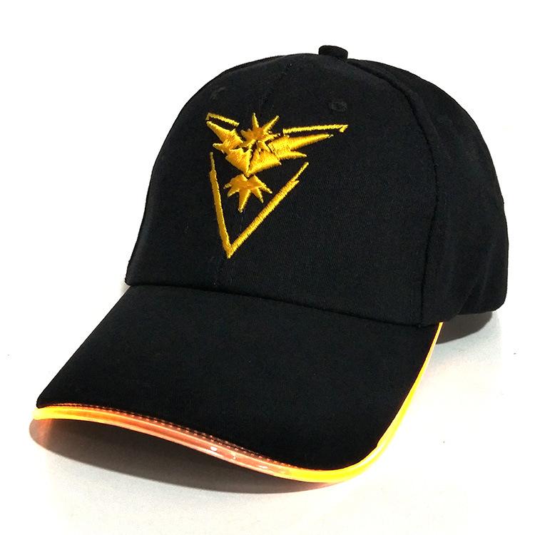 Buy Fashion custom kids led light hat cap,cool embroidery led baseball cap hat