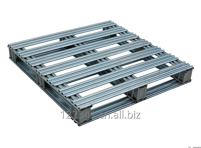 Buy Customized 4-way Double Faced Steel Pallet