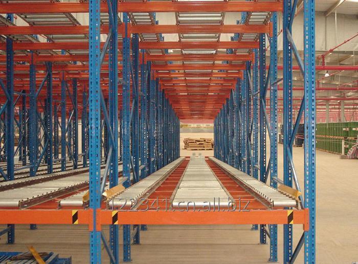 Buy Warehouse Gravity Storage Slide Rail Rack