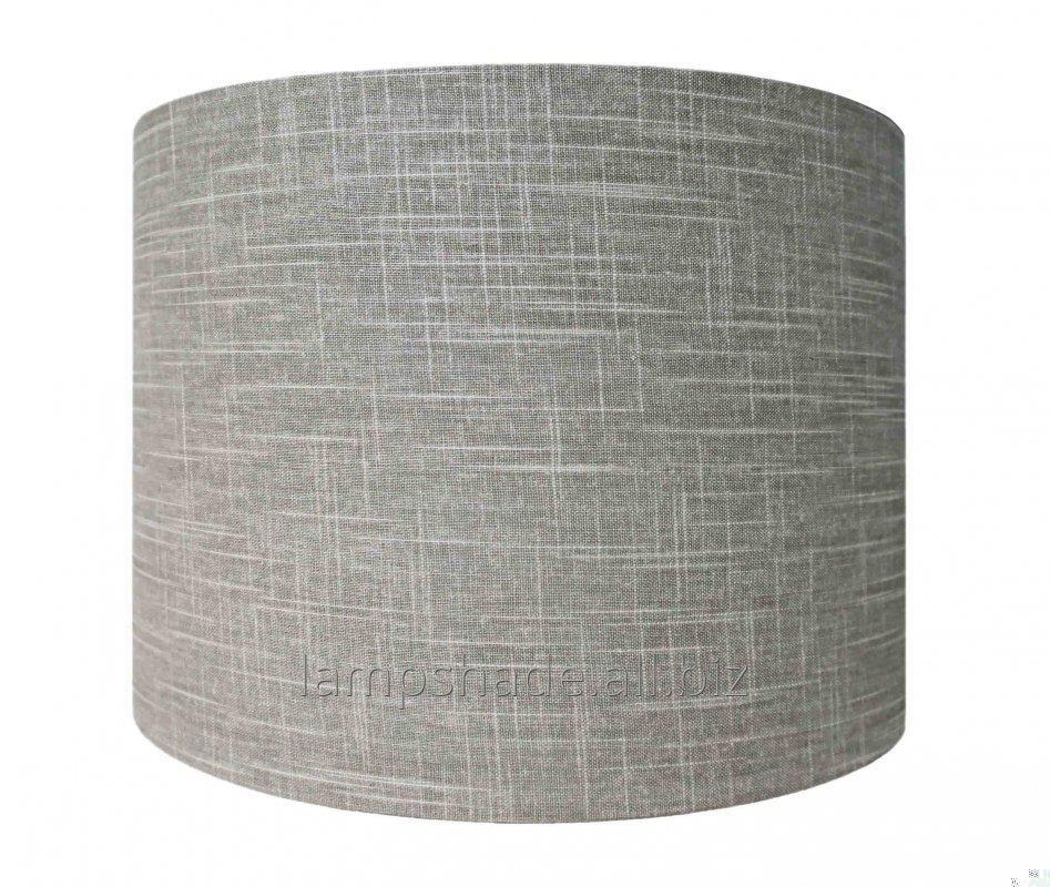 Buy Drum grey linen lampshade