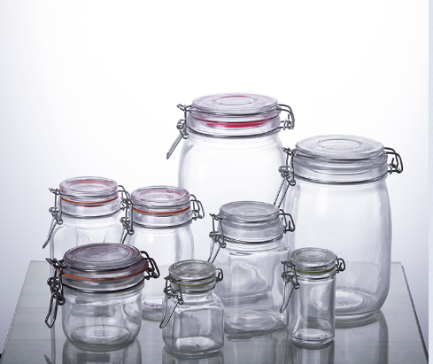 Buy Airtight wire bail glass containers