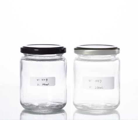 Buy 250ML classic round shape jam sauce jar