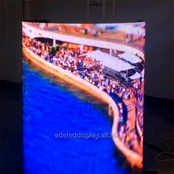 Buy CE ROHS retail cylinder indoor Flexible LED Display