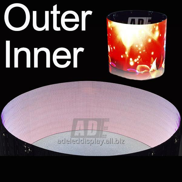 Buy High quality stage event cylinder indoor Flexible LED Display