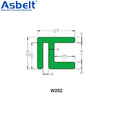 Buy Wear Strips W252 W253 W254,Vacuum Perforated Top Belt ,Flush Grid Belt