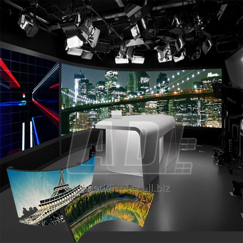 Buy CE ROHS trade show concave and convex outdoor Flexible LED Display