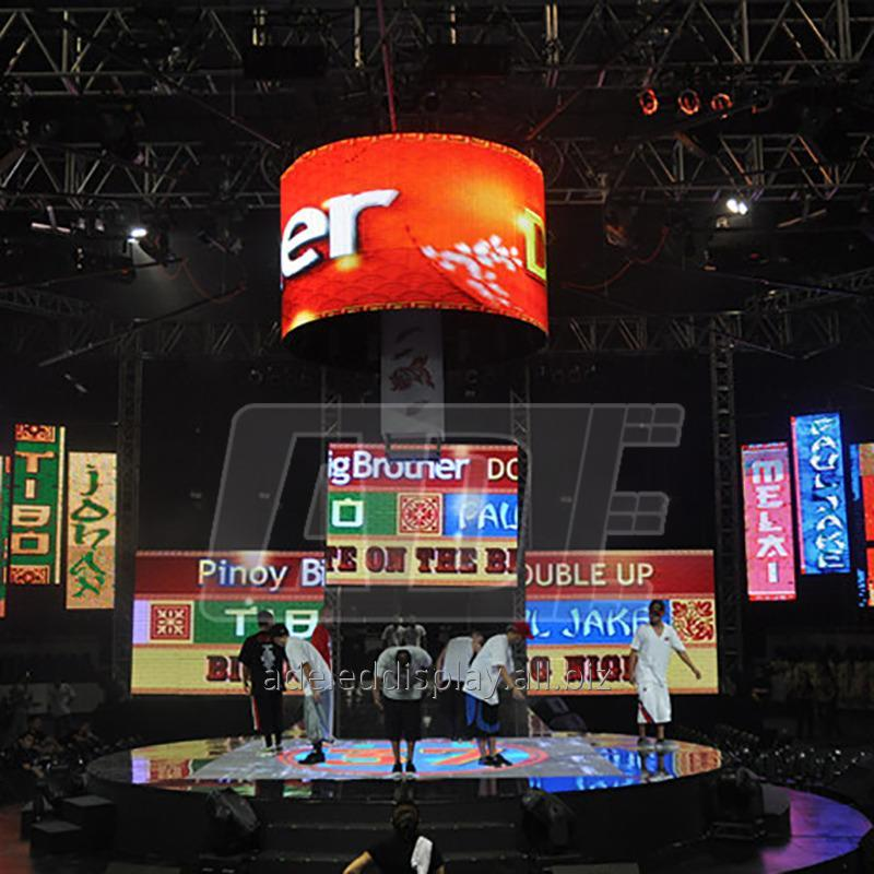 Buy CE ROHS trade show curved outdoor Flexible LED Display