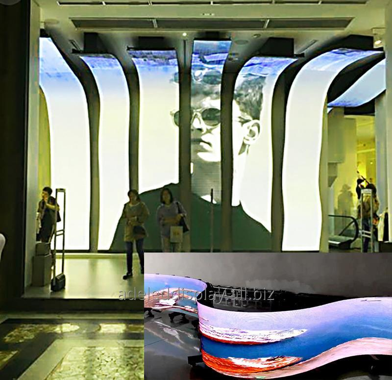 Buy High quality stage event curved outdoor Soft LED Display