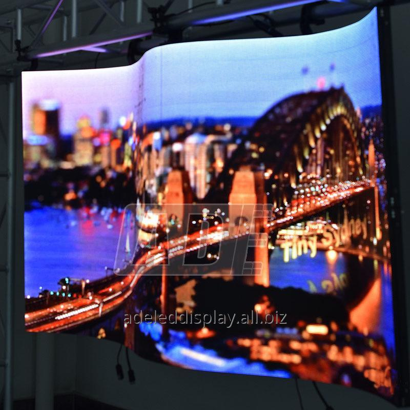 Buy Hot sale car auto show cylinder indoor foldable LED screen