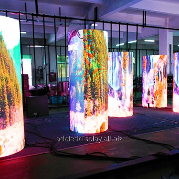 Buy RGB stage event cylinder indoor Flexible LED screen