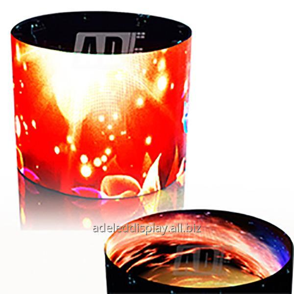 Buy Manufactuer exhibition cylinder circular indoor outdoor Soft LED video wall