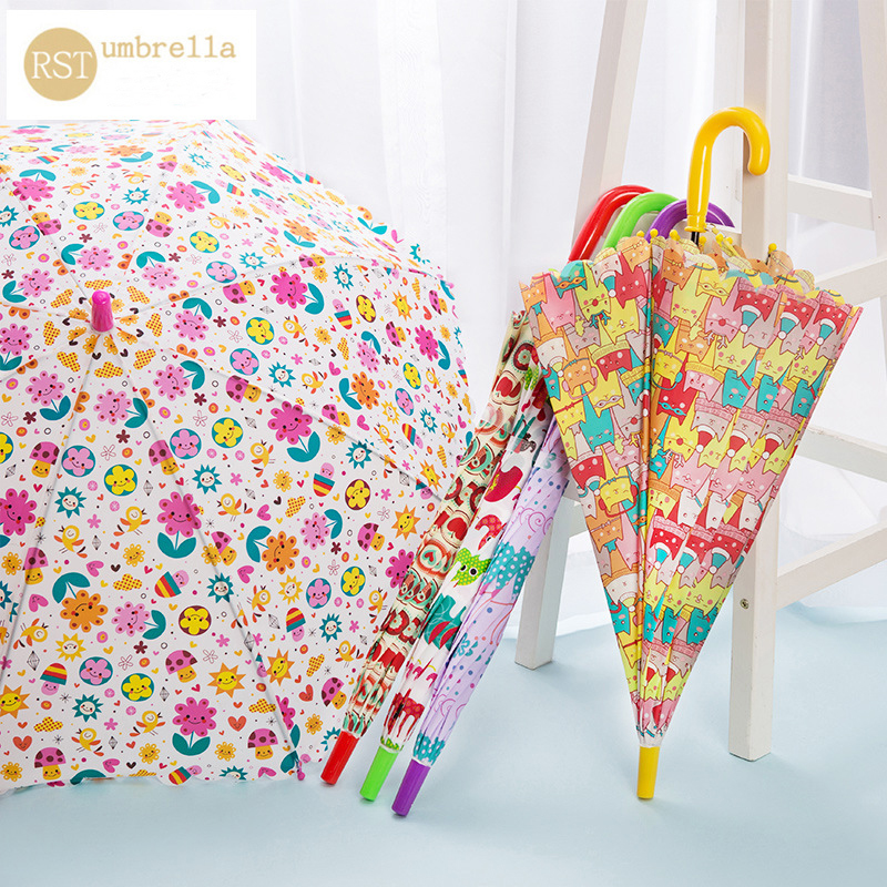Buy RST high quality kids straight umbrella customized cartoon child umbrella
