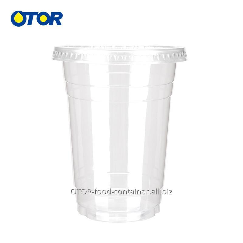 OTOR 34oz Clear Plastic Cups Beverage Milkshake Juice Glass with Double  Hole Lid Disposable Tumblers Takeaway Party Supply 50pcs
