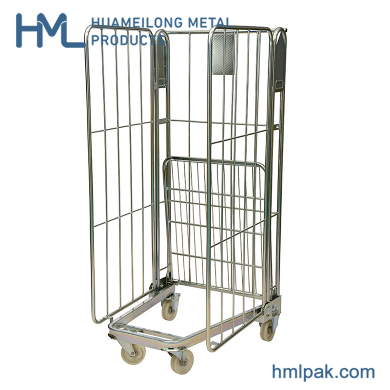 Kup teď BY-08 Galvanized storage steel folding roll container