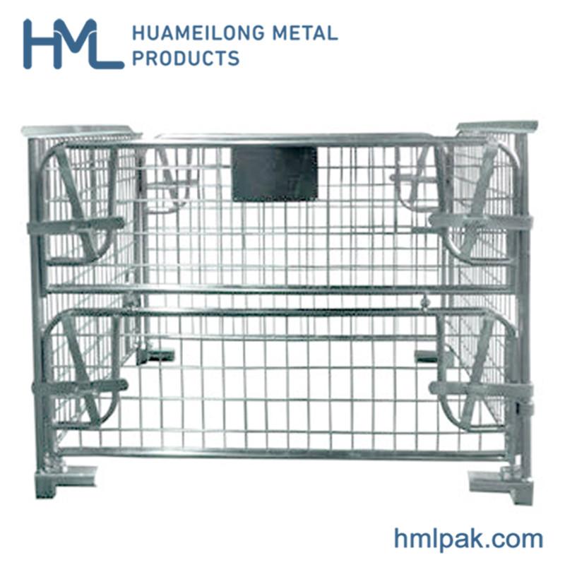 خرید کن NF-1 انبار صتكبل قفس فلزی foldable پالت