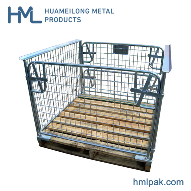 Buy Welded collapsible china supplier cargo storage wire mesh pallet basket