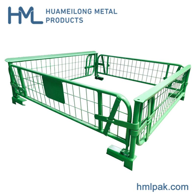 Buy Collapsible steel galvanized gravity lock design wire mesh pallet basket