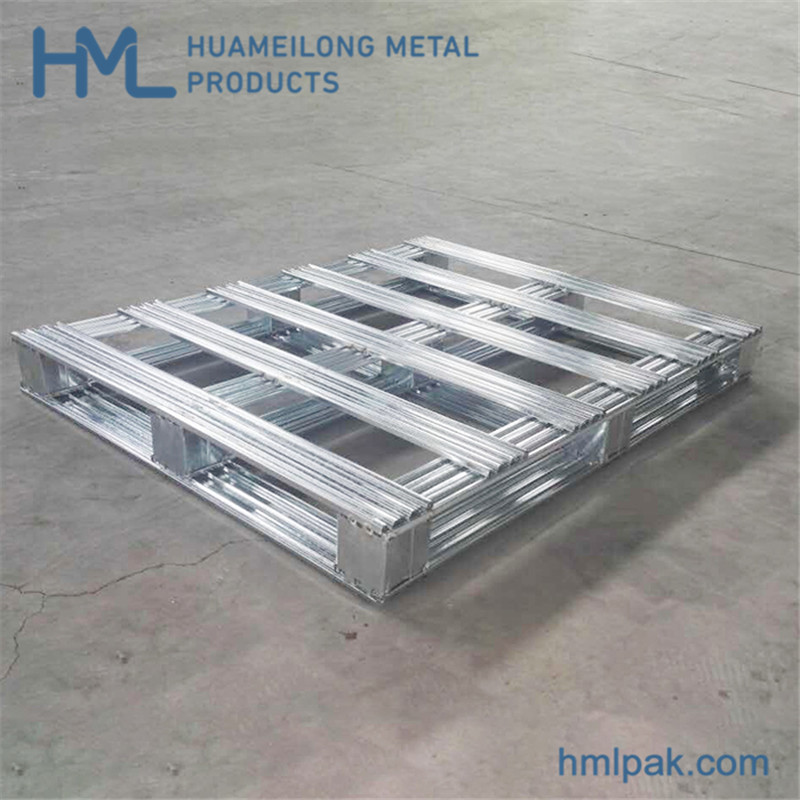 Buy Industrial low cost logistics euro movable zinc plated metal pallet