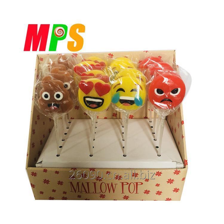 购买 有趣的表情符号设计胶糖果棒