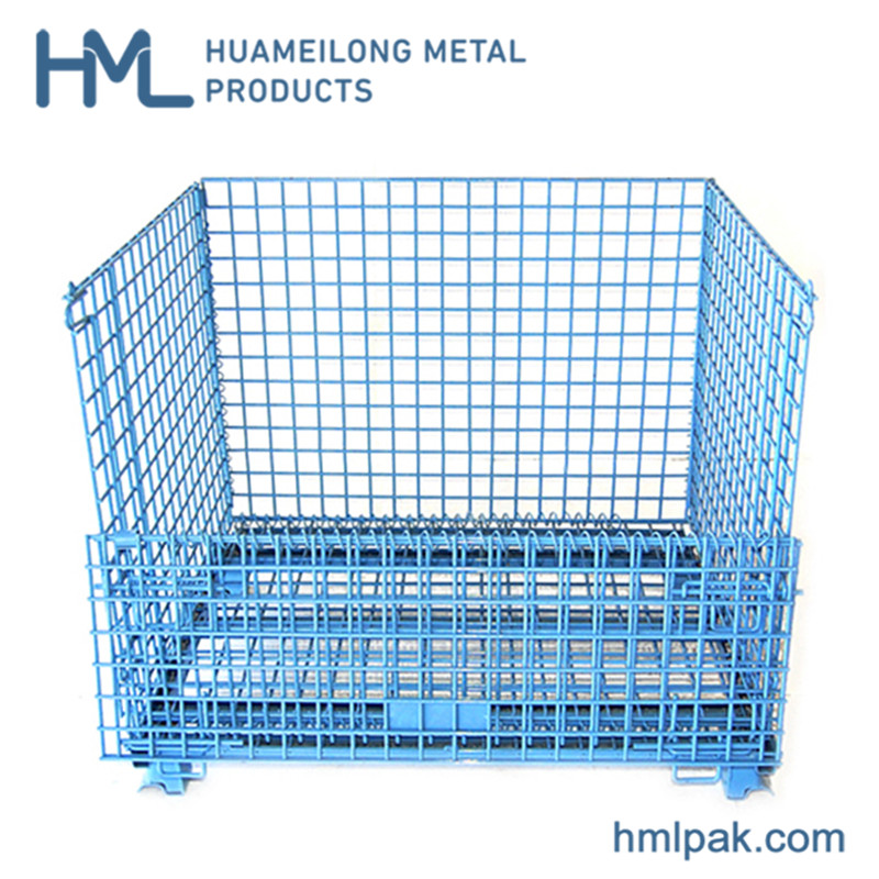 شراء W-1 Industrial storage steel wire mesh container