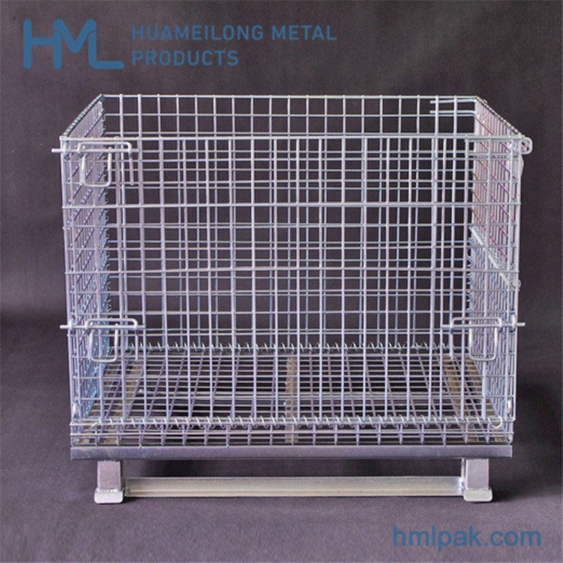شراء W-1 Industrial storage steel wire mesh container