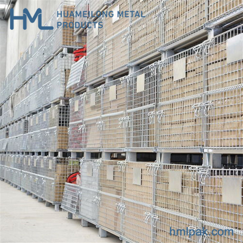 Buy High quality industry china manufacturer durable stackable wire mesh cage
