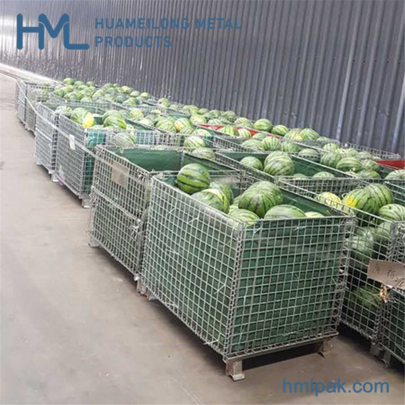 Buy Warehouse cargo storage huameilong professional iron recycle wire mesh cage