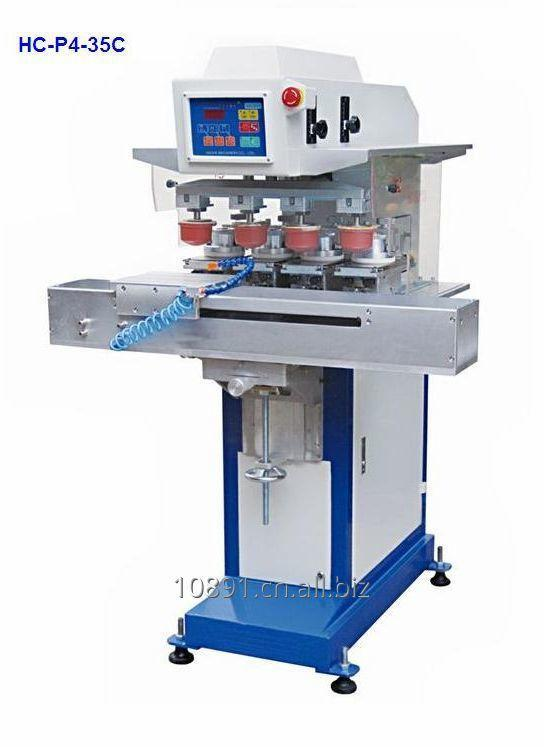 Buy Ink cup 4 colours pad printer, Ink cup four colours pad printer, closed cup pad printer, close cup pad printing machine, ink cup pad printer,ink cup pad printing machine,4 colors pad printer