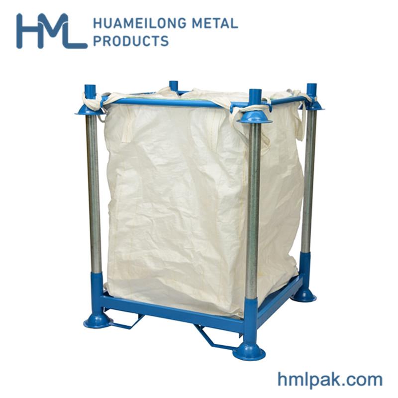 Comprar M-6 Big bag support metal stillage Warehouse storage metal stacking racking shelving for big bag PET preform
