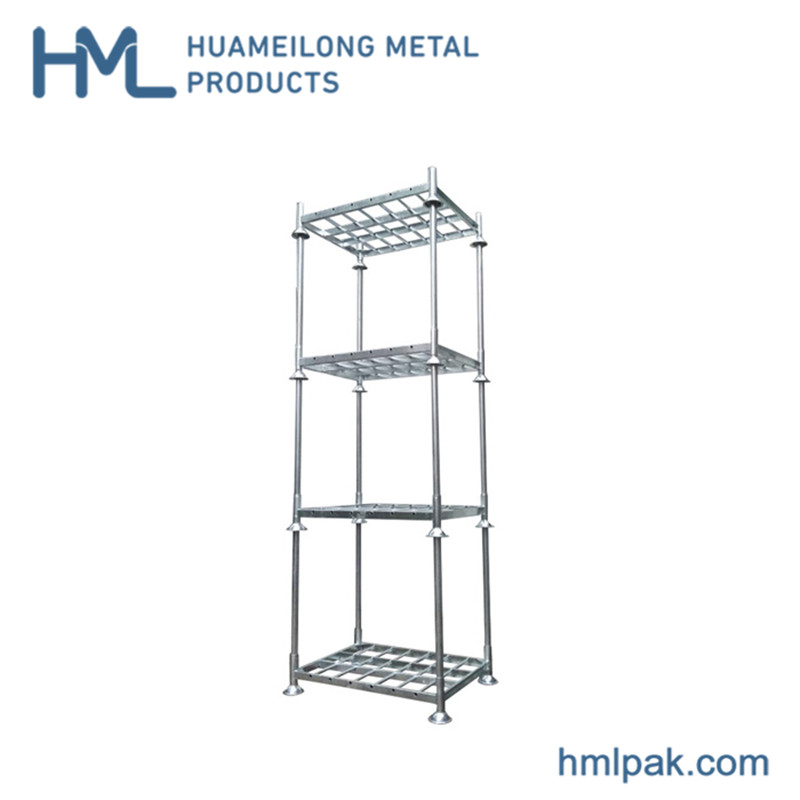 Buy High quality industrial heavy duty stackable zinc post pallet rack
