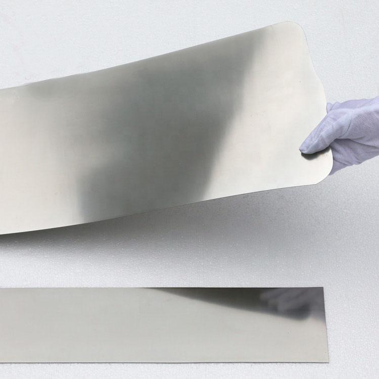 Astmf2063 0 12mm Shape Memory Alloy SMA Superelastic Nitinol Strip Foil