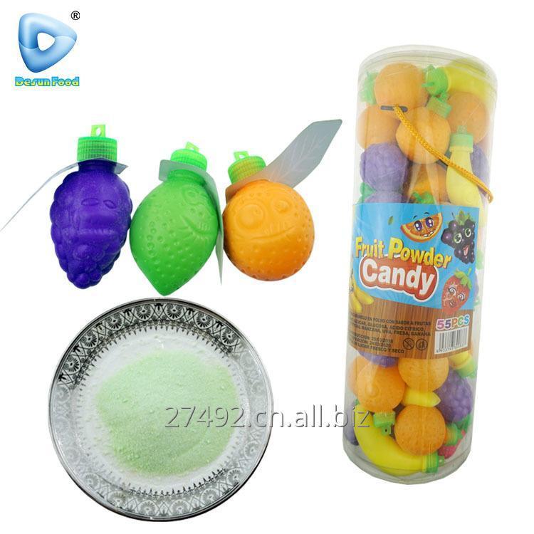 购买 中国果味形状的酸粉糖果