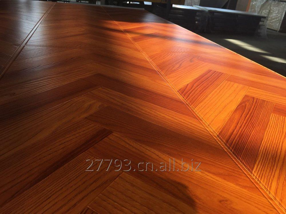 Buy Herring bone parquet laminate flooring factory AC4,HDF, U Groove