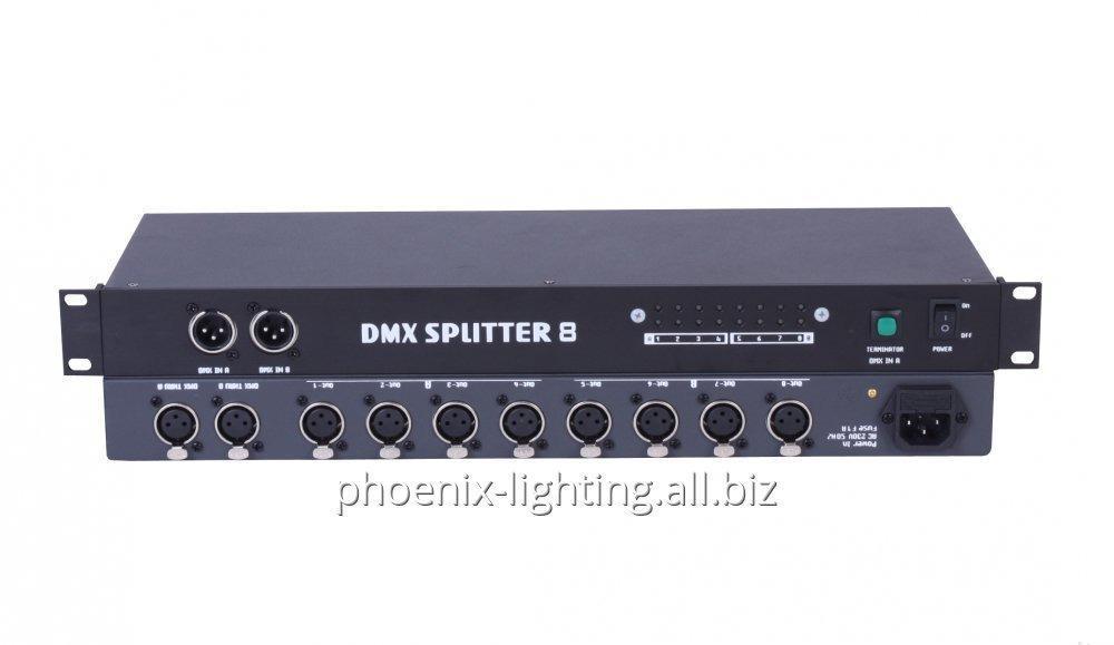 Comprar Booster DMX, In2 Out8 DMX Splitter