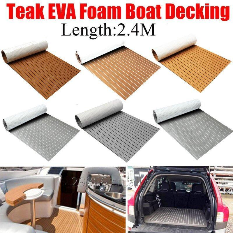 "Buy Marine boat flooring 94""x35.4'' Flooring Synthetic Teak Sheet EVA Foam Boat Yacht Decking New"