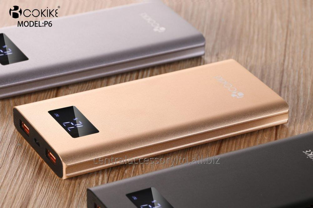 P6 10000mAh QC3.0 portable mobile phone charger battery bank for mobile Factory 2 Ports Output 18W