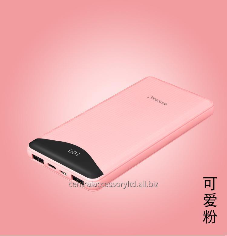 Buy M7106 10000mAh battery powered portable charger portable battery power Wholesaler LED digital display Micro USB/Type-C Dual Input