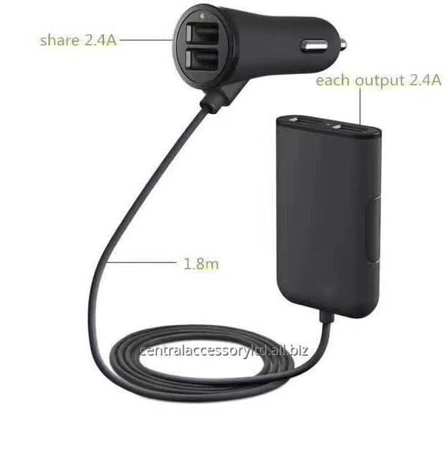 Buy C80 Smart 4USB mobile phone car charger Fast Car Adapter Factory For Smartphone and Tablets