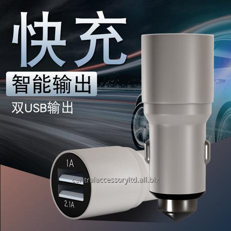 M190 2.1A Dual USB андроида автомобильное зарядное устройство гарнитура Автомобильное зарядное устройство адаптер Производитель алюминиевого сплава матовый корпус для телефонной трубки и таблетки
