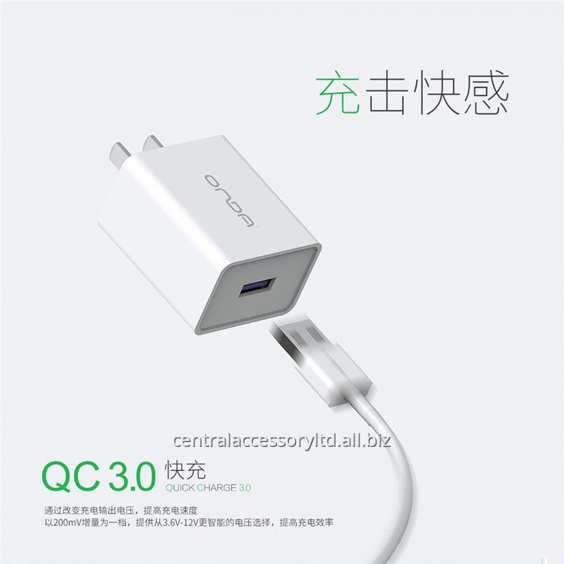 Buy A18 QC3.0 mobile charger adapter Quick Charging Charger Adapter Exporter US Plug For Cellphone and Tablets