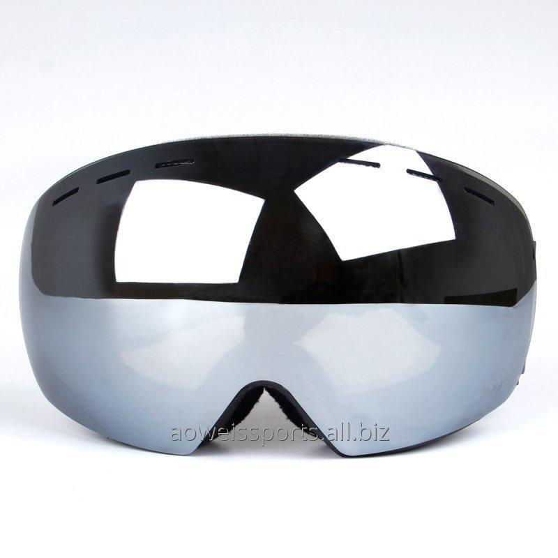 Double-layer anti-fog men and women myopia spherical ski glasses Outdoor adult ski goggles