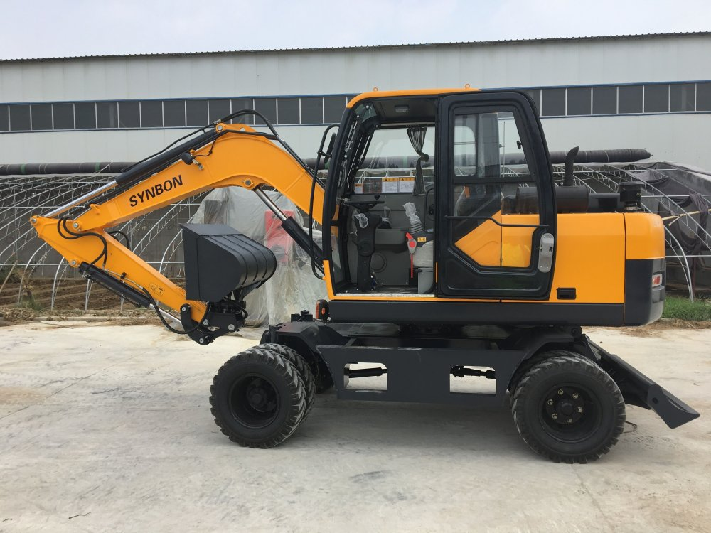 Buy SYNBON NEW WHEEL EXCAVATOR SYL607E 7ton wheel excavator with best price in china