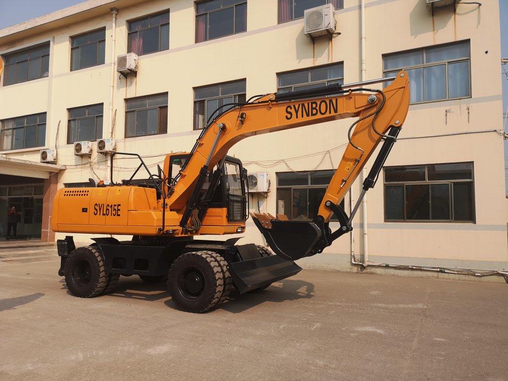 Buy SYNBON 13.5ton Wheel excavator SYL615E with best price