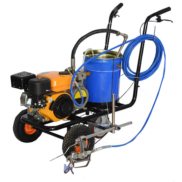 Buy Factory price hand push cold spray airless road track line marking paint machine