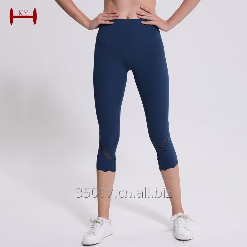 Buy  Wholesale Custom Logo Women Quality yoga legging nylon lycra yoga clothing manufacturer