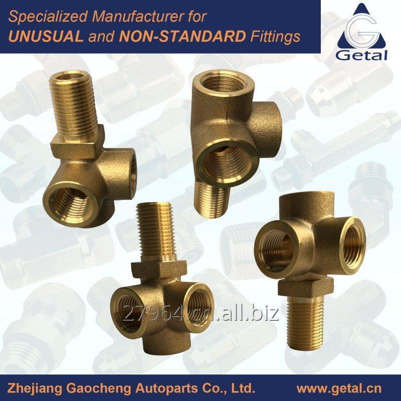 Buy Customerized Brass Three Way Tee Fittings